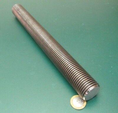 """4140 Steel Threaded Rod, Grade B7, RH, 1 1/4""""-8 x 1 Foot Length, Pkg of 1 Pcs"""