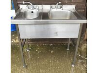 We sell used Stainless steel catering Sinks, Tables & shelf racks, cheap delivery rates all UK