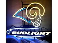 """New Bud Light Los Angeles Chargers Neon Light Sign 20/""""x16/"""""""