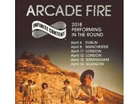 2 x Arcade Fire Manchester Sunday 8th April seated tickets £130 for both