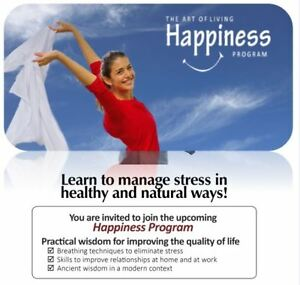 Happiness Program by The Art of Living (Breathing & Meditation) Kitchener / Waterloo Kitchener Area image 1