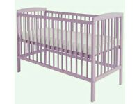 Kinder valley pink Lavender cot with FREE mattress. Brand new in box. 2 left only.