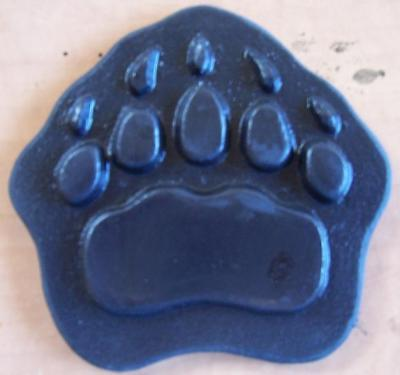 Cement Concrete Plaster Stamp Grizzly Bear Paw 4 Border Art Stamps Mats New