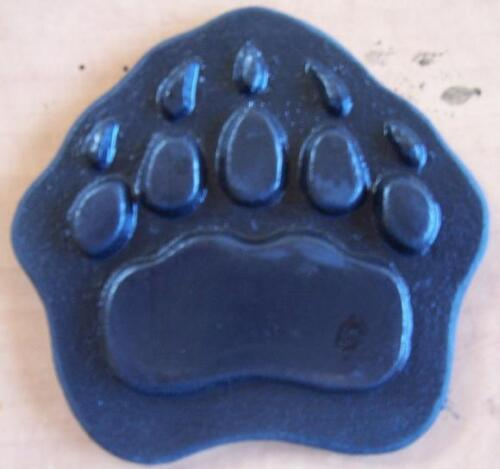 """Cement Concrete Plaster STAMP grizzly bear paw 4"""" BORDER ART STAMPS Mats New"""