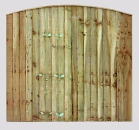 ARCH TOP VERTICAL BOARD FENCE PANEL 6FT X 4FT £32 EACH