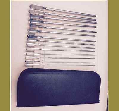 14pc Set Dittel Urethral Sounds Urology Surgical Astm 420 German Stainless Steel