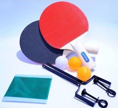 Kit Ping Pong Tennis Da Tavolo Con Rete 2 Racchette 2 Colori E 3 Palline dfh