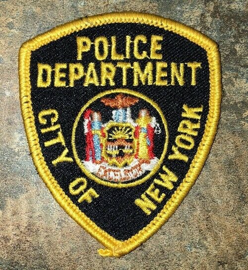 """Police Department Patch City Of New York Hat/Jacket Vintage 2 7/8"""" X 2 3/8"""""""