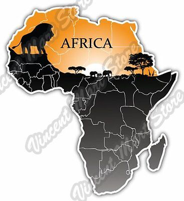 Africa Map Desert Safari Lion Gift Idea Car Bumper Vinyl Sticker Decal 4