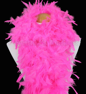 Hot Pink 100 Gram Chandelle Feather Boa Dance Party Halloween Costume (Pink Boa)