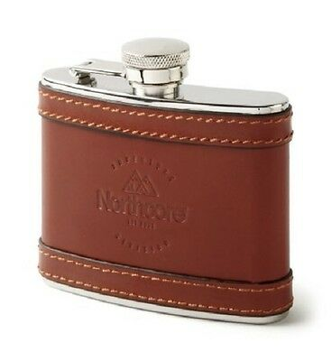 BNWT Northcore Adventure 4 Oz Leather Hip Flask in Presentation Box