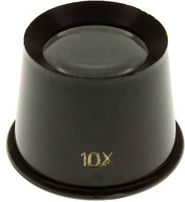 - 10X Jewelers Loupe Eye Magnifying Glass Magnifier Coins Hobby Watchmakers 25mm