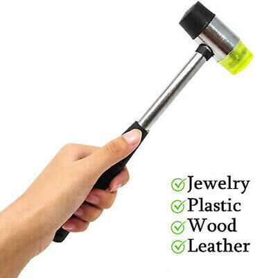 25mm Rubber Mallet Soft Dual Head Hammer Nylon Leather Craft Jewelry Making