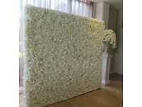 white flower wall for hire £100