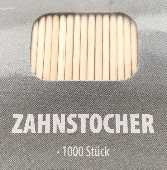 1000 Zahnstocher Partypicker Zahnpflege Rouladennadel Käsepicker Spieß Holz