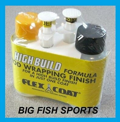 FLEX COAT HIGH BUILD ROD WRAPPING FINISH, 2 oz KIT W/SYRINGES #F2S FREE USA SHIP