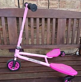 Child's Small Pink Wiggle Scooter