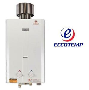NEW* ECCOTEMP OUTDOOR WATER HEATER L10 211322153 High Capacity TANKLESS LPG