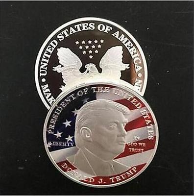 2017 Donald Trump Silver Eagle Coin Make America Great Again 45Th President F10