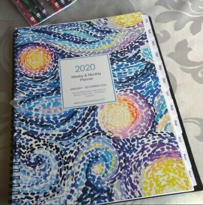 2020-2021 Planner Weekly Monthly Calendar Academic Tabs Notes Journal Organizer