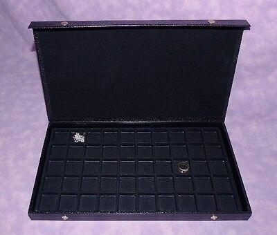 Earringjewelry 50 Slot Textured Top Jewelry Case