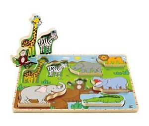 Wooden Puzzle Stand Up Wild Animals. Toy Clearance SALE New TOYS Yarramalong Wyong Area Preview