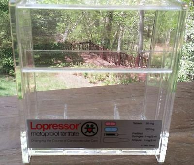 Lopressor Acrylic Flip Top Storage Box Pharmaceutical Display Case