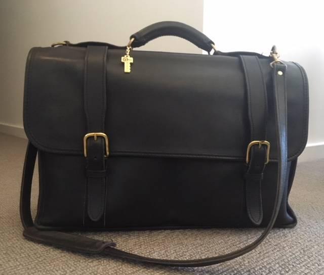 76964adaa52ca5 Satchel   47  Briefcase - Genuine Leather   47  Black