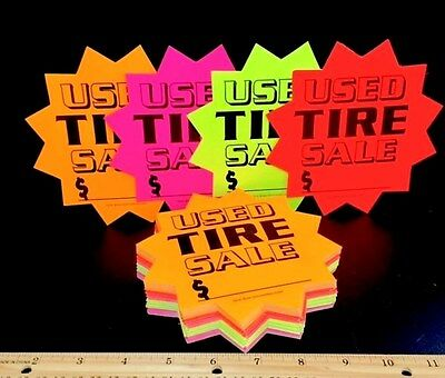 New 100 Used Tire Burst Sale Price Signs No Need To Buy Label Stickers Again