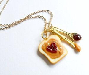 Peanut Butter Jelly Heart Necklace Cute D | eBay