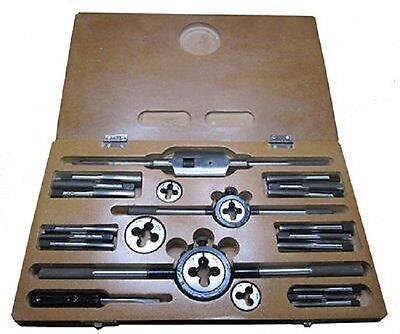 RDGTOOLS 24PC COMPLETE TAP AND DIE SET 1/4 - 1/2 (32 TPI) ENGINEERING TOOLS