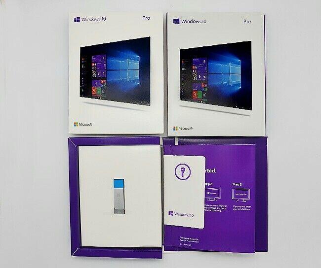 Microsoft Windows 10 Pro 32/64 Bit Flash Drive (FQC08789) Retail Sealed USB