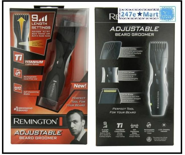 NEW Remington MB-200 Titanium Mustache and Beard Trimmer,