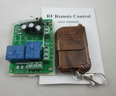 DC12V 2 Channel Wireless RF Remote Control Switch Relay