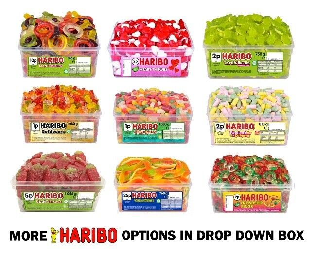 1 Or 2 Tubs Of Haribo Sweets Wholesale Discount Favours Treats Party Candy Kids Candy, Gum & Chocolate Food & Beverages