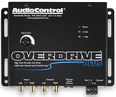 AudioControl OVERDRIVE PLUS 2 Channel 24 dB Gain Pre Amp RCA Voltage Line Driver 2 Channel Line Driver