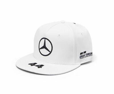 a7b5d31c096 Mercedes-AMG Petronas Motorsport 2019 F1 Lewis Hamilton Flat Brim Cap White