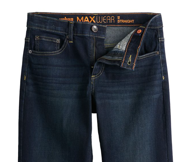 URBAN PIPELINE Boys MAX WEAR Straight Fit Dark Blue JEANS Size 10 NWT