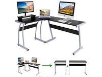 Computer Corner Desk L Shaped Home Gaming Desk, Office.