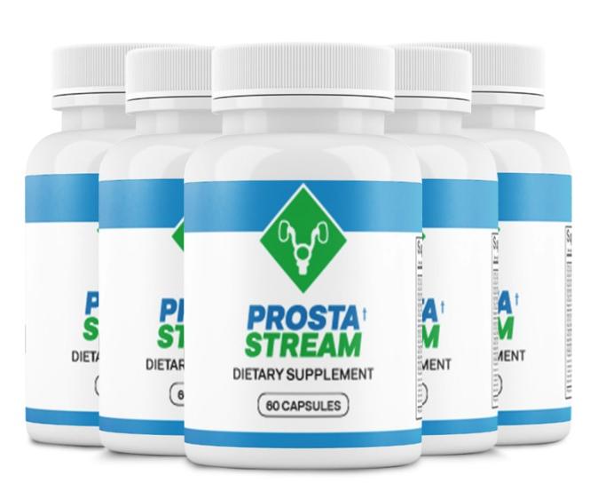(5 Bottles) ProstaStream - Prosta Stream, Prostate Support Supplement 60 Caps