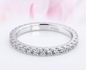 Eternity Ring, Diamond Ring, Wedding Ring, Platinum 950 Hallmarked