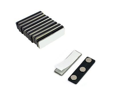 Magnetic Name Badge Backing - Name Tag Faster w/ Adhesive - Magnet Holder Sets
