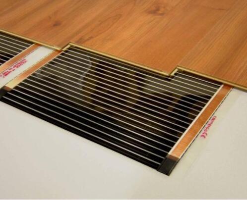 ≥ elektrische vloerverwarming onder laminaat of houten vloer