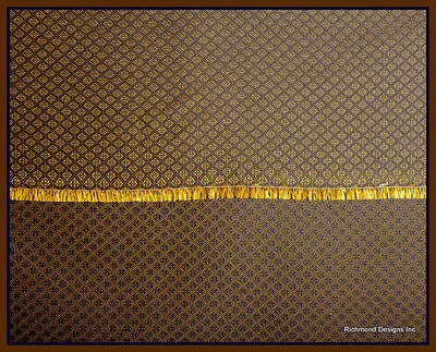 Antique Radio Speaker / Grille Cloth,Diamond (rev) ,18x24,True 1930s duplication