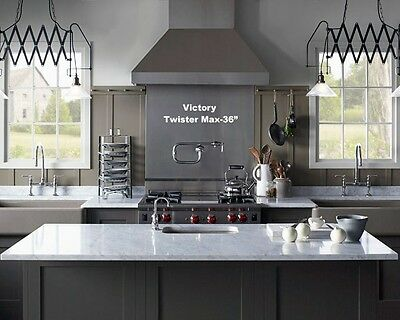 "VICTORY TWISTER MAX, PROFESSIONAL RANGE HOOD 36"" WITH MECHANICAL SWITCHES."