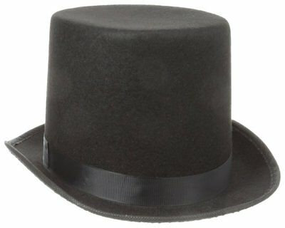 Shannon Phillips GREY BLACK CAROLER Tall Victorian Dickens Top Hat Steampunk NEW
