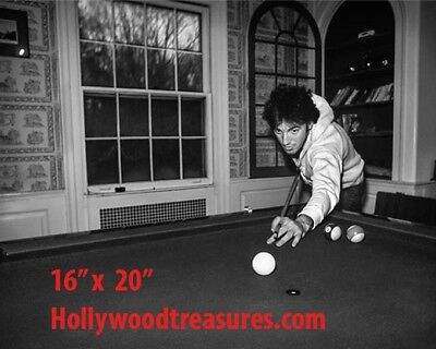 "Bruce Springsteen~Shooting Pool~Billiards~Playing Pool~Photo~Poster 16"" x 20"""