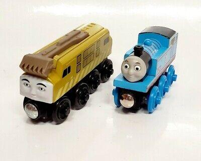 Thomas Friends Wooden Railway Train Tank Engine - Diesel & Thomas