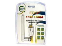 EDUP 150Mbps Wireless Wi-Fi Card Dongle Adapter for laptop or desktop.