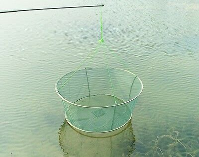 Fishing Net Folding Drop Landing Great Pier Harbour Pond Prawn Bait Crab Shrimp (Drop Net)